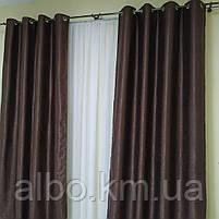 Штори в зал кухню кімнату Блекаут, щільні штори на люверсах в спальню квартиру кімнату хол, однотонні штори для спальні залу кухні, фото 4