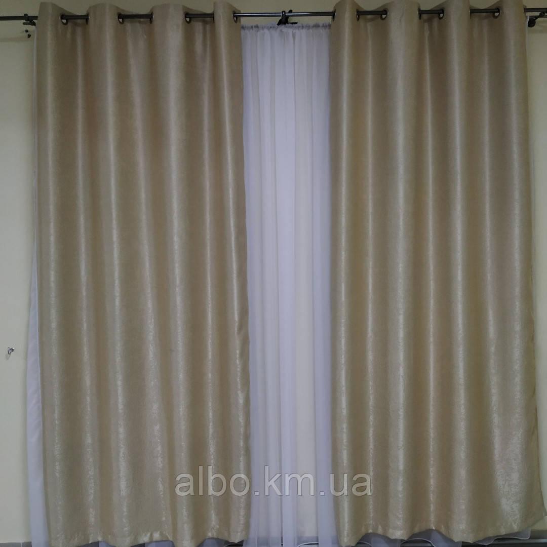 Штори на кільцях для залу спальні вітальні, штори блекаут в кімнату будинок квартиру кухню кабінет, штори на люверсах для дитячої