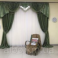Готовые шторы для дома спальни кухни гостинной блэкаут, шторы в гостинную спальню детскую с ламбрекеном, шторы, фото 3