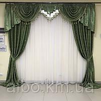 Готовые шторы для дома спальни кухни гостинной блэкаут, шторы в гостинную спальню детскую с ламбрекеном, шторы, фото 9