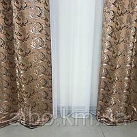 Жакардові штори в кімнату квартиру зал дитячу, штори з люрексом для кухні залу спальні, красиві штори для кухні вітальні кімнати, фото 6