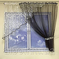 Фіранка коротка для залу спальні дитячої балкона, фіранка з сітки в квартиру кімнату спальню, оригінальні фіранки для будинку, фото 7