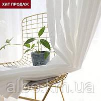 Тюль в зал спальню кухню из турецкого шифона, готовый тюль в спальню детскую квартиру комнату, стильная тюль в, фото 6