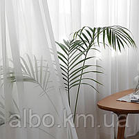 Стильна тюль в зал кімнату квартиру шифон, біла тюль для залу спальні кухні, готовий тюль для спальні кухні дитячої ALBO 500x270, фото 4