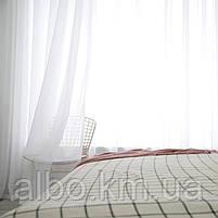 Стильна тюль в зал кімнату квартиру шифон, біла тюль для залу спальні кухні, готовий тюль для спальні кухні дитячої ALBO 500x270, фото 5