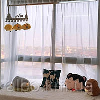 Стильна тюль в зал кімнату квартиру шифон, біла тюль для залу спальні кухні, готовий тюль для спальні кухні дитячої ALBO 500x270, фото 6