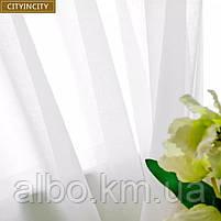 Тюль в зал без штор из турецкого шифона ALBO 500x270 cm Белая (T-T-5), фото 7
