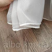 Стильна тюль в зал кімнату квартиру шифон, біла тюль для залу спальні кухні, готовий тюль для спальні кухні дитячої ALBO 500x270, фото 9