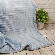 Плед-покривало фліс Тм Koloko Паркет 220*240 Блакитний