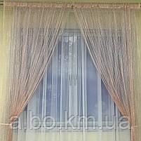Штори-нитки в кімнату квартиру будинок, штори з люрексом для спальні кухні дитячої, нитяні штори для вітальні залу холу,, фото 4