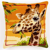 Вышивка крестиком жирафы