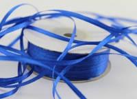 Лента атласная 3 мм 90 метров, синяя