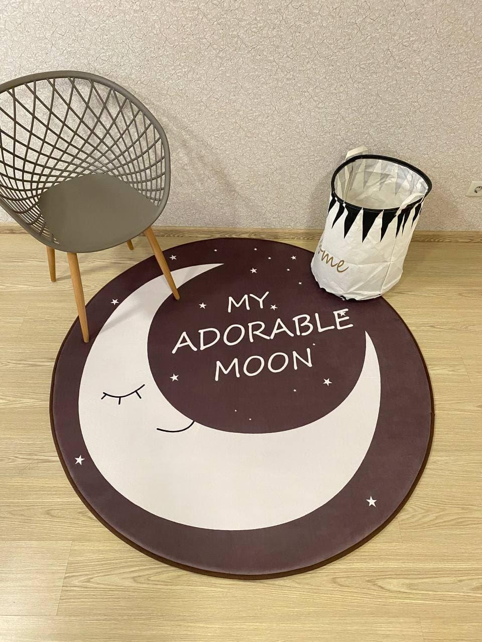 """Безкоштовна доставка! З невеликим браком! Утеплений килимок """"Луна"""" (150 см діаметр)"""