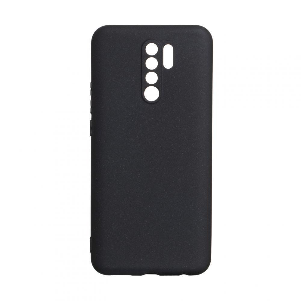 Чехол для Xiaomi Redmi 9 черный SMTT / Чехол для Ксяоми Сяоми Ксиоми 9