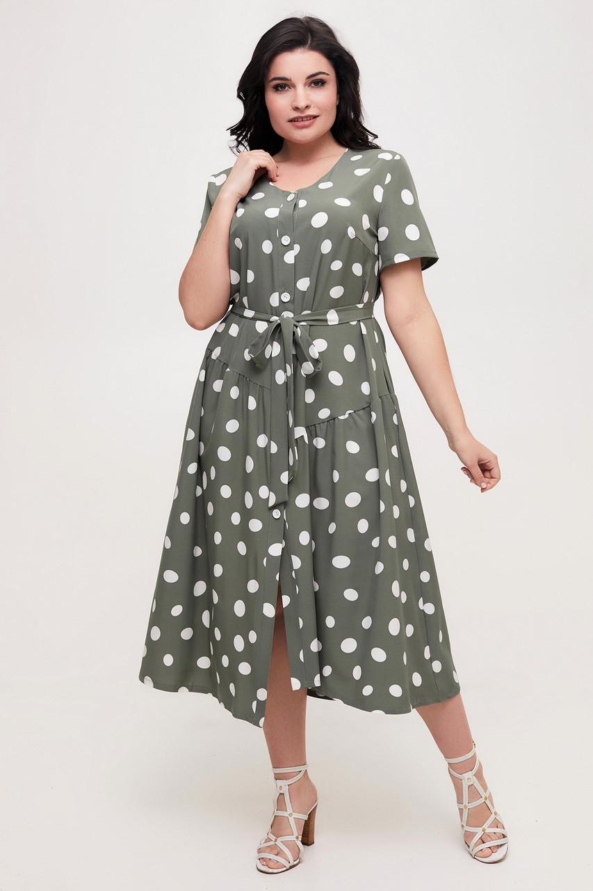Платье ТМ ALL POSA Барбара оливка 52 (100562) 54