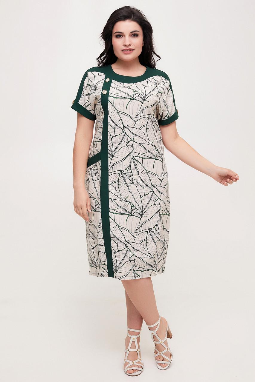 Сукня ТМ ALL POSA Олеся темно-зелений 50 (100566)