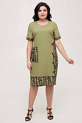 Платье ТМ ALL POSA Офелия оливковый 50 (100570)
