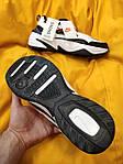Мужские кроссовки Nike M2 Tekno (бело-черно-красные) модная весенняя обувь из кожи D93, фото 2