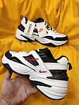 Мужские кроссовки Nike M2 Tekno (бело-черно-красные) модная весенняя обувь из кожи D93, фото 4