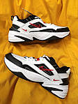 Мужские кроссовки Nike M2 Tekno (бело-черно-красные) модная весенняя обувь из кожи D93, фото 7