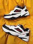 Мужские кроссовки Nike M2 Tekno (бело-черно-красные) модная весенняя обувь из кожи D93, фото 8