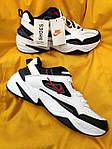 Мужские кроссовки Nike M2 Tekno (бело-черно-красные) модная весенняя обувь из кожи D93, фото 10