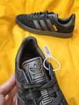 Мужские кроссовки Adidas Gazelle (Чёрные) D95 спортивные легкие кроссы, фото 3
