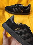 Мужские кроссовки Adidas Gazelle (Чёрные) D95 спортивные легкие кроссы, фото 4