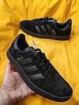 Мужские кроссовки Adidas Gazelle (Чёрные) D95 спортивные легкие кроссы, фото 5