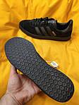 Мужские кроссовки Adidas Gazelle (Чёрные) D95 спортивные легкие кроссы, фото 10