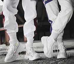 Чоловічі білі стильні шкарпетки в рубчик тм Еко