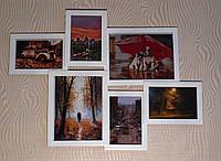 Деревянная эко мультирамка, коллаж #106 венге, орех, белый, чёрный., фото 1