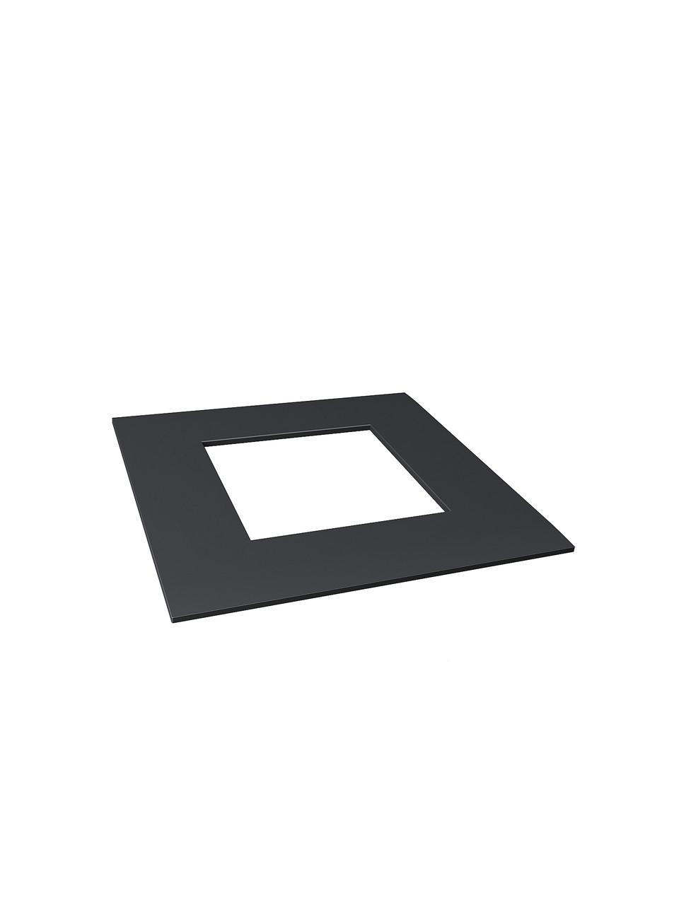 ODF-02-15-21 декоративна Кришка плоска на стійку 40х40, чорна