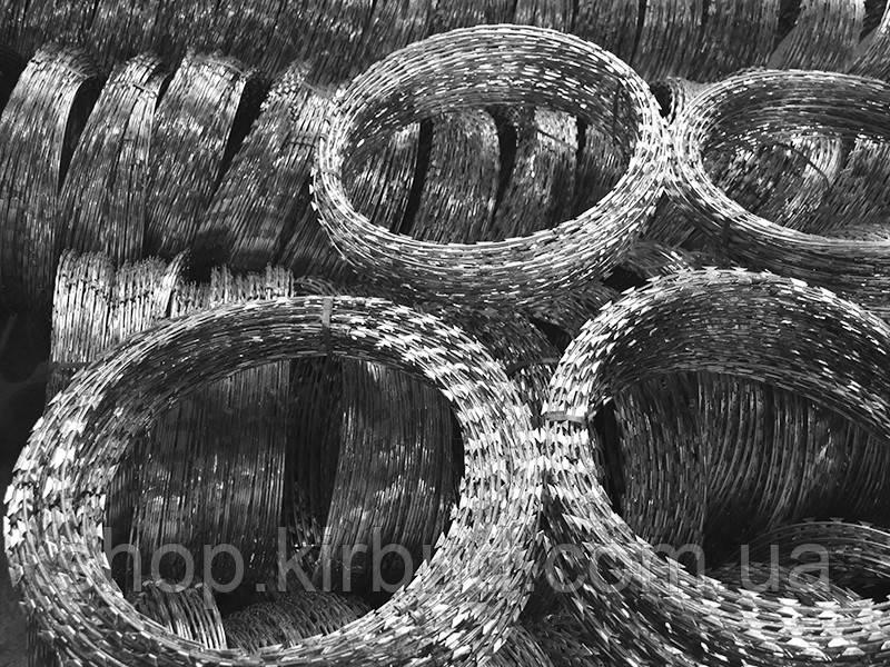 Спіральні огородження Єгоза Шарк БТО - 22 на 5 скоб діаметр кільця Ø1000мм 12-16м.п.