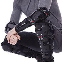 Комплект мотозащиты (колено, голень + предплечье, локоть) 4шт SCOYCO K11H11-2 (пластик, PL, черный)