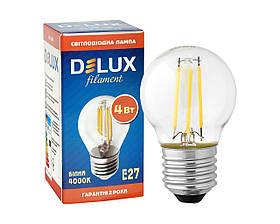Светодиодная лампа DELUX BL50Р 4 Вт 4000K 220В E27 filament