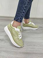 Летние кроссовки с перфорацией оливкового цвета в наличии