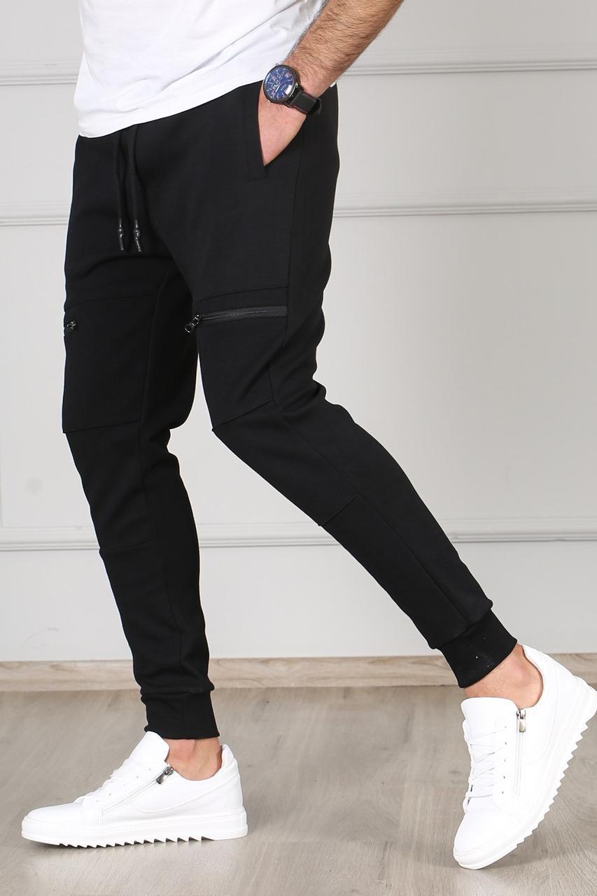 Чоловічі спортивні штани чорні Madmext