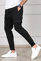 Чоловічі спортивні штани чорні Madmext, фото 1