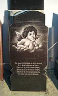 Детский гранитный памятник с художественным оформлением образец №4