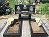 Двойной надгробный памятник с цветником из гранита  горизонтальный образец №6