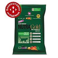 Nutra Gold Hairball control 18кг для дорослих кішок (висновок вовни) білий мішок