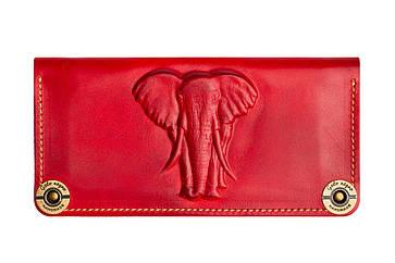 Женский кожаный кошелек Elephant