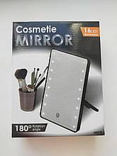 Зеркало для макияжа Cosmetie Mirror черное с подсветкой