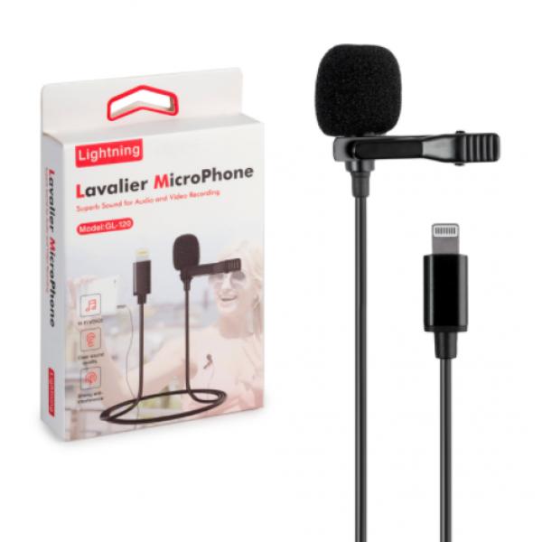 Петличний мікрофон lavalier GL-120 Lightning для Apple iPhone