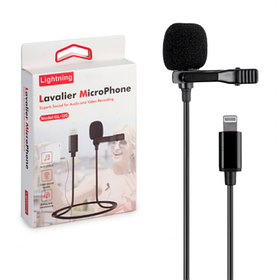 Микрофон петличный lavalier GL-120 Lightning для Apple iPhone