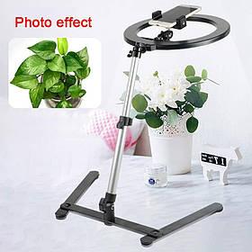 Кільцева настільна лампа для предметної фото та відео зйомки (LED, 26 см)