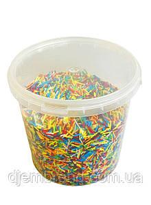 Посыпка длинная вермишель, разноцветная, 500 г (пэт ведро)