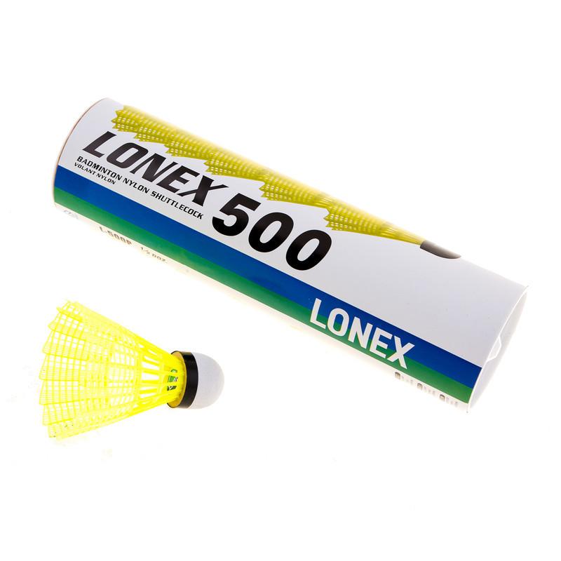Воланы Mavis Lonex 500 желтый, нейлон, 6шт