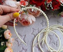 Обруч для волосся дрібний перли